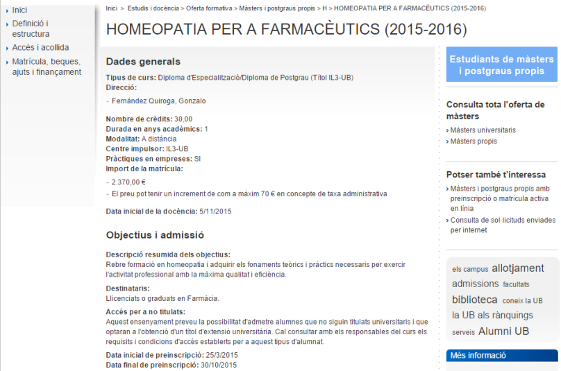 Homeopatia farmaceutics UB